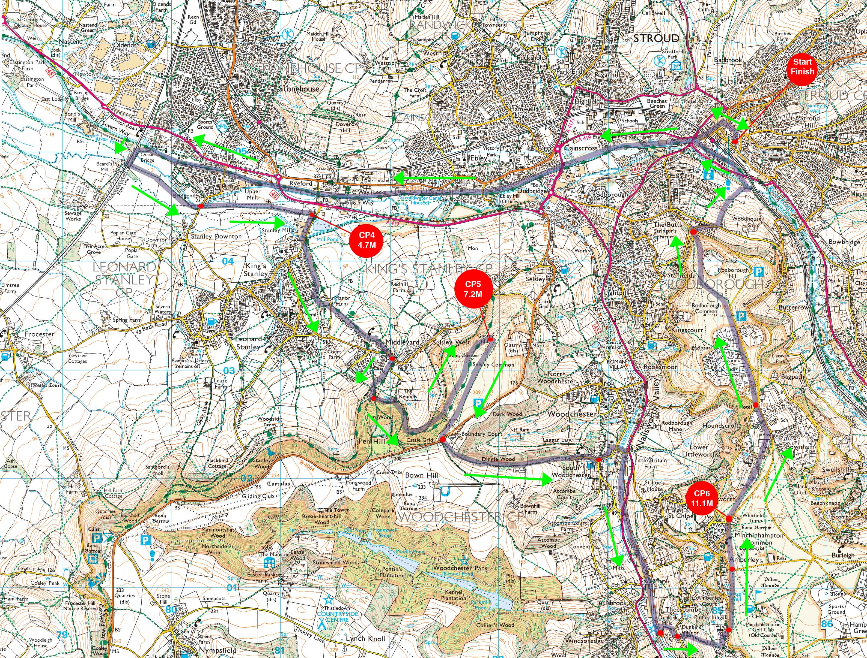 Trasa Stroud Marathon