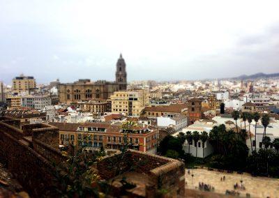Widok na Malagę z Alcazaba